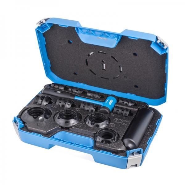 5 Ton Hydraulic Bearing Hub Gear Puller Rotor Press Separator 3 Jaws Tool Set #1 image